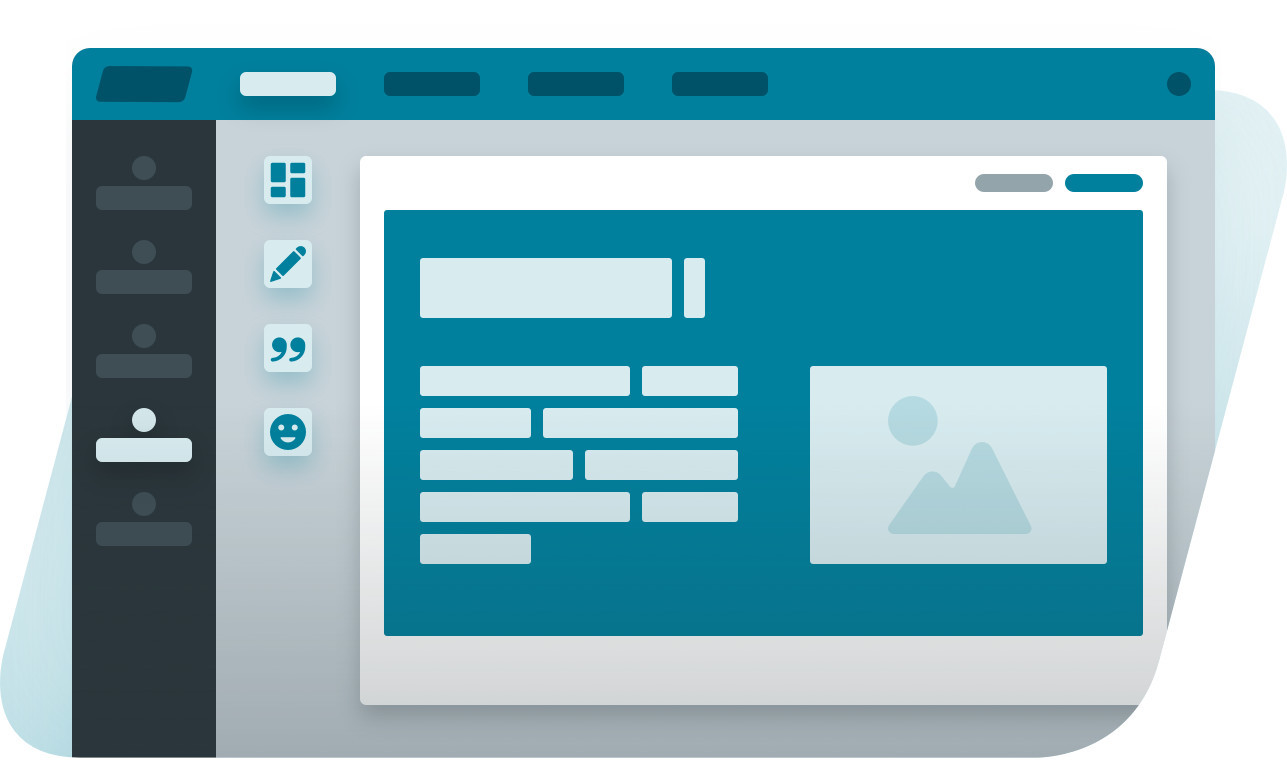 This image shows an illustration of the sklera cms design tools feature.